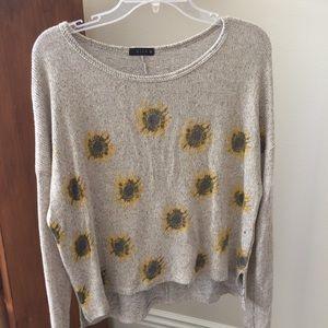 Sunflower Oversized Knit Wide-Neck Sweater